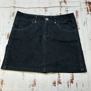 Athleta black corduroy mini skirt